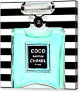 Chanel Perfume Turquoise Chanel Poster Chanel Print Canvas Print