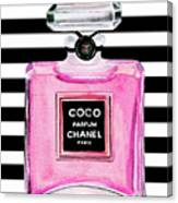 Chanel Pink Perfume 1 Canvas Print