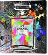 Chanel Rainbow Colors Canvas Print