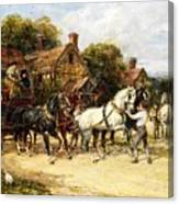 Changing Horses Canvas Print