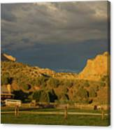 Changing Weather Over Farmland In Southwestern Usa Canvas Print