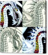 Chaos Dragon Fact W Fiction Canvas Print