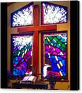 Chapel At The Wesleyan At Scenic Canvas Print