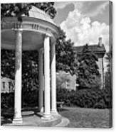 Chapel Hill Old Well In Black And White Canvas Print