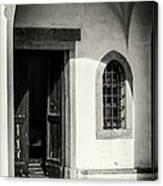 Chapel In Riomaggiore Cinque Terre Italy Bw Canvas Print