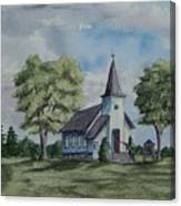 Chapel In Summer Canvas Print