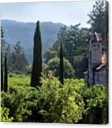 Chapel In The Napa Valley Vineyards Canvas Print