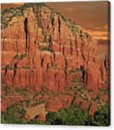 Chapel Of The Holy Cross At Sunset Canvas Print
