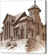 Chapel On The Rock Canvas Print