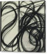 Charcoal Arc Drawing 7 Canvas Print