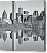Charcoal Big D Reflection Canvas Print