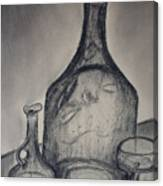 Charcoal  Glass Canvas Print