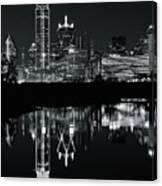 Charcoal Night In Dallas Canvas Print