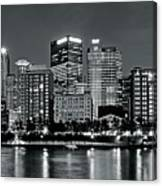 Charcoal Panoramic In Pittsburgh 2017 Canvas Print