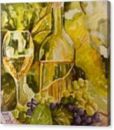 Chardonnay At The Vineyard Canvas Print