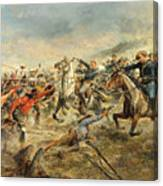 Charge Of The Seventh Cavalry Canvas Print