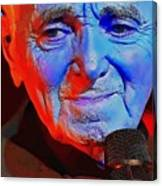 Charles Aznavour Canvas Print