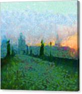 Charles Bridge At Dawn Canvas Print