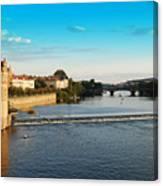 Charle's Or Carl's Bridge View In Prague Canvas Print