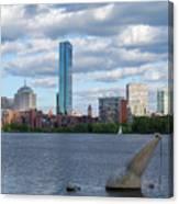 Charles River Boston Ma Crossing The Charles Canvas Print