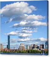 Charles River Cloud Stack Boston Ma Canvas Print