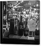 Charles Street Boston Ma Wine In The Window Canvas Print