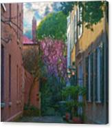 Charleston Alley In The Spring Canvas Print