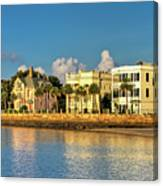 Charleston Battery Row Of Homes  Canvas Print