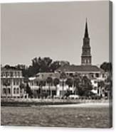 Charleston Battery South Carolina Sepia Canvas Print