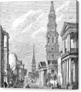 Charleston: Church, 1861 Canvas Print