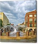Charleston Fountain Canvas Print