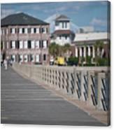 Charleston High Battery Side Walk Canvas Print