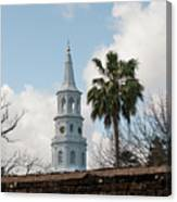 Charleston Historic Church Bell Tower Canvas Print