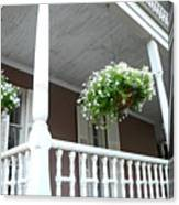 Charleston Historical District Front Porch Flowers - Charleston Homes Architecture Canvas Print