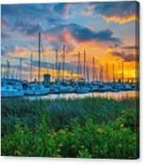 Charleston Marina Canvas Print