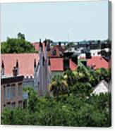 Charleston Rooftops - Queen And Church Streets Canvas Print