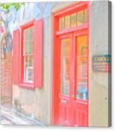 Charleston Sc Catfish Row Canvas Print