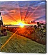 Charleston Sunset Canvas Print