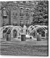 Charleston Waterfront Park Fountain Black And White Canvas Print