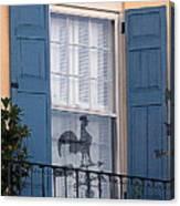 Charleston Weathervane Reflection Canvas Print