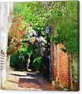 Charlestons Alley Canvas Print
