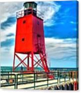 Charlevoix South Pier Light Canvas Print