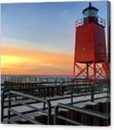 Charlevoix South Pier Lightstation Canvas Print