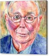 Charlie Munger Painting Canvas Print