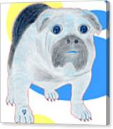 Charlie The Bulldog Canvas Print