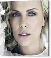 Charlize Theron Blue Eyed Blonde Blouse Celebrity Hollywood 31116 640x960 Canvas Print