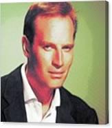 Charlton Heston, Hollywood Legends Canvas Print