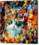 Charming Cat Canvas Print
