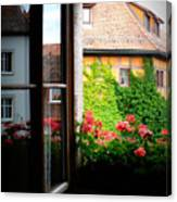 Charming Rothenburg Window Canvas Print