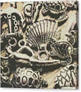 Charming Seashore Symbols Canvas Print